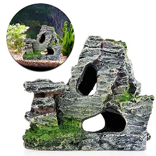 Naisicatar Acuario Montaña Coral Arrecife Roca Cave Piedra Moss pecera Tank Decoración