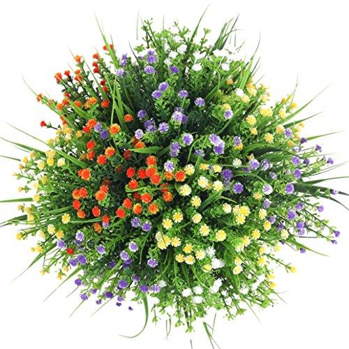 Künstliche Blumen 4 stücke Faux Kunststoff Eukalyptus Blätter Büsche Gefälschte Simulation Grün Pflanzen Innen Außerhalb Hausgarten Büro Veranda Hochzeit Decor