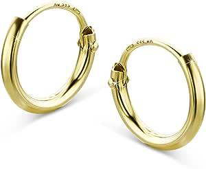 Orovi, orecchini a cerchio in oro giallo 14carati (585)