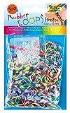 folia 339569 - Rubber Loops Streifen Glow in the dark, inklusive 25 S - Clips und 1 Häkelnadel, 500 Gummibänder