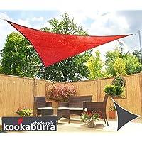 Tende a vela Kookaburra per feste- Triangolo rettangolo 4,2m x 4,2m x 6,0m Rosso Traspirante Intrecciata (185g)