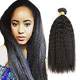 THATSYOU Kinky Straight Perücke Echthaar natürlichen schwarz Tissage brasilianisches für Frauen Black Kinky Teppan yaki Straight Human Hair Weaves 100g/PCS (1PCS 18inch)