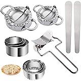 Ravioli Maker, 11 Pièces Acier Inoxydable Ravioli Maker et Ravioli Cutter Kit, Moulle à raviole, Presse à Pâte et Moule à Dum
