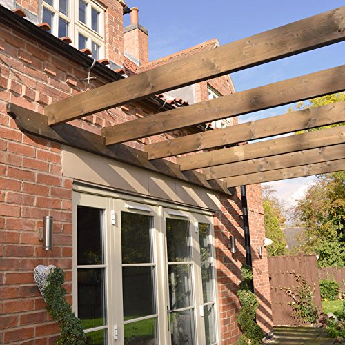Rutland County Garden Furniture Wooden Garden Structure Lean to Pergola 3.6m x 3.6m