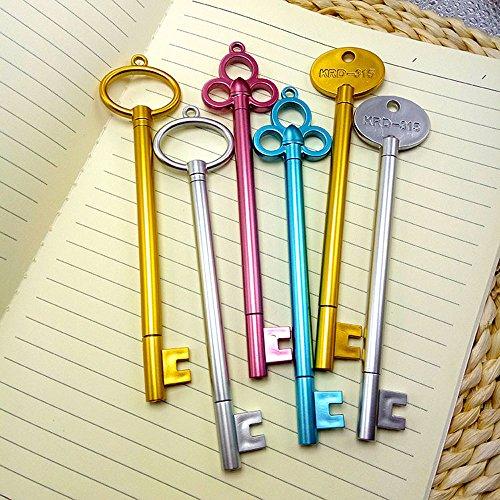 6 Penne a inchiostro gel Allbusky, Regalo per bambini, per la scuola o per il compleanno Key Type