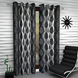Home Sizzler Paisley Set of 2 Door Curtains - 7 Feet Long