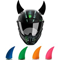 AllExtreme EX1HHR Helmet Devil Horn Suction Pad Rubber Headwear Decor Accessories for Riding (Random Color, Pack of 2)