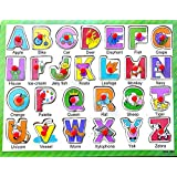 [Sponsored]Curtis Toys Alphabet Wooden Puzzle With Grip - Type 1