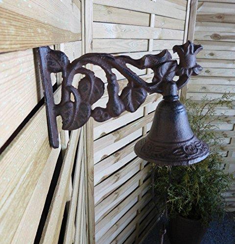 Türglocke Türklopfer Glocken Hauswanddekoration Blumenranke 008