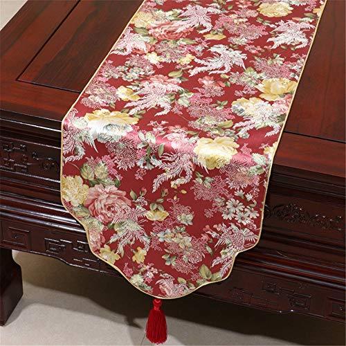 Preisvergleich Produktbild LIUYU Klassische Gartentische Flagge Continental Stoffe Dekoriert Esstisch 33 * 150 cm