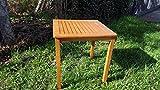 Gartentisch Eukalyptus FSC Tisch Beistelltisch Balkontisch geölt massiv 70 x 70