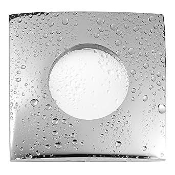 230 V iP65 éclairage encastrable pour spot aQUA-s pour salle de bain/douche et extérieur chromé pour &lED halogène 230 v gU10 (non incluses)-lot de 5