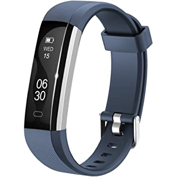 Lintelek Fitness Armband Fitness Tracker Sport Uhr Smart Bracelet Notifications Anrufe SMS Nachrichten Reminder Smartwatch Schrittzähler Schlaftracker Aktivitätstracker