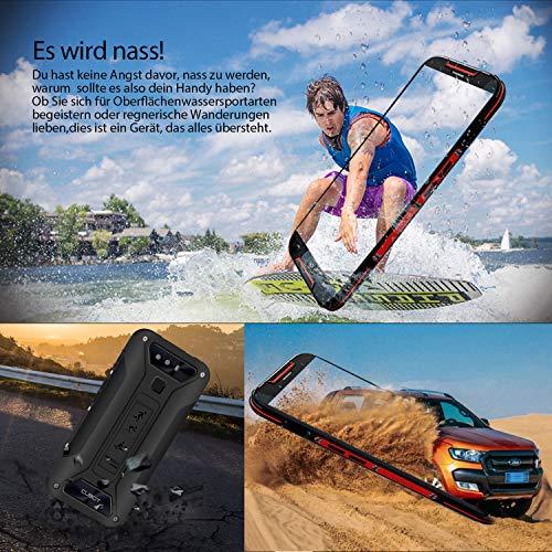 CUBOT Quest Lite Smartphone 4G Android 9.0, Télephone Portable debloqué 5,0 '' incassable 3Go+32Go, Double SIM, NFC, IP68 Imperméable Antichoc, Antipoussière, Rough+Noir