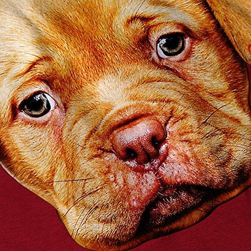 Welpe Liebe bezaubernd Hund Niedlich Nase Damen S-2XL Muskelshirt | Wellcoda Rot
