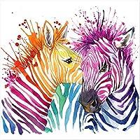 Diseño Twist Qu/317/B color Glass impresión sobre cristal, animales, cristal, multicolor, 60x 60x 2.6cm