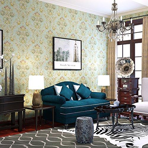 Zhzhco American Retro Tapete Wohnzimmer Schlafzimmer Komplette Shop-Freundlichen Dorf Normalpapier Wallpaper (0,53 M * 10 M)