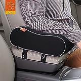 #5: Gigi (G-1589) Breathable Memory Foam Car Armrest Cushion Armrest Center Consoles Cushion Head Neck Rest Pillow Pad for Car Motor Auto Vehicle Office (Black)