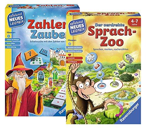 Ravensburger 24964 0 Zahlen-Zauber Nein Spielen und Lernen 24945 Der Verdrehte Sprach-Zoo Lernspiel
