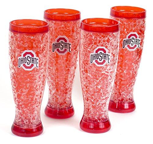 Ohio State Sommer Cookut in partiespilsner Bier Drinkware. unzerbrechlich groß pilsners. Set von 4 Bier Pilsner Set