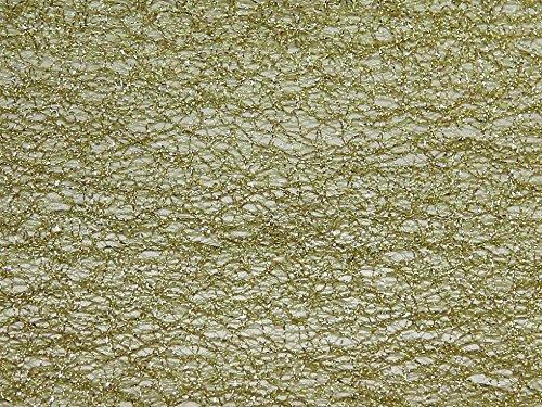 Metallic Spider Tüll Netzen Stoff lime & Gold–Meterware (Metallic Lime Stoff)