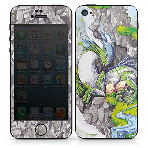 Apple iPhone SE Case Skin Sticker aus Vinyl-Folie Aufkleber Drache Fantasie Traum DesignSkins® glänzend
