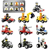 Mini figurine Set-10 pezzi mini-figure piloti, diverse professioni di plastica carino veicolo auto bambini regalo, bambini giocattolo educativo regalo, mini auto modello giocattolo regalo (auto da corsa) (10 Piece Mini figurine-New)
