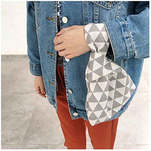 Chilie Borsa del sacchetto del polso delle ragazze del nodo del manicotto del nodo della borsa della borsa della borsa della borsa della borsa della borsa portatile della borsa portatile frecce grigie nuvole surf