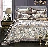 Sucastle,Bettwäsche Eine Vierköpfige Familie Fashion Bedding,Tencel,Bed Width:150cm