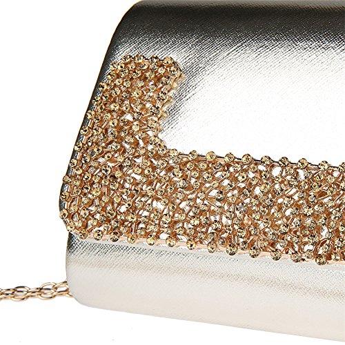 d906be54ae722 ... Strass Abendtasche Hochzeit Handtasche Damentasche Clutch Bag Leder  Hochzeit Tasche Gold ...