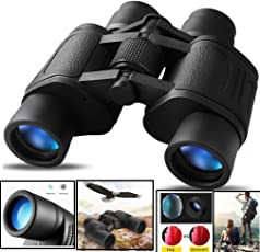 CASON (DEVICE OF C) Professional 8 X 40 HD Binoculars Folding Powerful Lens 10X Zoom Portable with Pouch (CSON_8_X_40_BINOCULARS_BLACK)