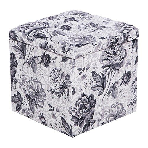 Lagerung Hocker LXF Freizeit-Speicher-Schemel-Leder-Schuh-Kabinett-Make-upfootrest kleines Sofa-europäische Art-Blumenmuster (größe : Style 2)