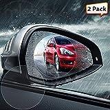 WADEO Pellicola per specchietto retrovisore auto, Specchietto retrovisore auto Pellicola Anti-nebulizzazione Aanti-acqua 4PCS