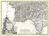 MAP ANTIQUE 1775 ZANNONI ALGARVE PORTUGAL OLD LARGE REPLICA