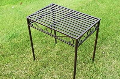 Beistelltisch oder Untergestell aus Metall, im Versailles-Stil, in antiker Bronzeausführung (große Größe) - Ideal für Haus und Garten
