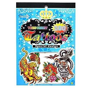 Gifts 4 All Occasions Limited SHATCHI-1003 No. 05 - Pegatina para bolsa de fiesta (impermeable, no tóxica, diseño de tatuajes), multicolor
