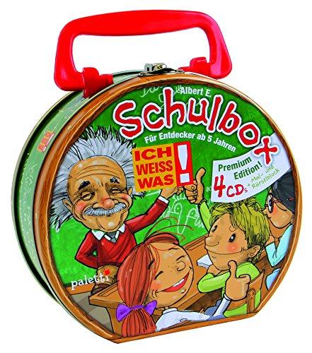 Albert E. Ich weiss was! - Schulbox - CD-Koffer mit 4 Themen-CDs und 1 Rätsel- und Malblock
