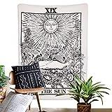 Amkun tarocchi arazzo The Moon la stella e il sole arazzo medievale Europa divinazione arazzi casa misterioso per soggiorno camera da letto Home Decor, The Sun, 59'×82'