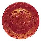Spiegelau & Nachtmann, Platzteller, Kristallglas, Stars, Größe: 32 cm, Rot, 0095890-0