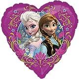 paduTec Heliumballon Ballon Folienballon - Herzballon Frozen die Eiskönigin Anna und Elsa - Geburtstag Überraschung für Kinder Deko - mit Helium gefüllt