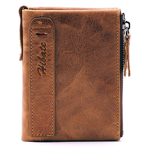 Hibate Men Leather Wallet RFID B...