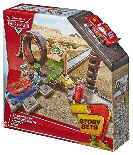 Mattel Cars Story Sets Pista Luigi's Loop (2/2015) Cdw65 Cdw67