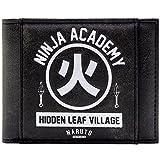 Naruto Shippuden Ninja Academy Hidden Leaf Village Schwarz Portemonnaie