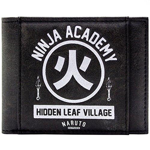 Gaara Kostüm Kinder - Naruto Shippuden Ninja Academy Hidden Leaf Village Schwarz Portemonnaie
