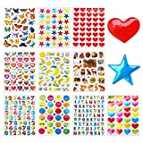 MKISHINE 100 Foglietti Adesivi,Adesivi per Album di Foto,Masking Tape Sticker Decorazioni Scrapbooking Diario Agenda Biglietti Bomboniere Cottura Chiudi Pacco (100 sheets sticker)