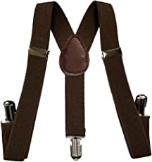 bilAnca® Brown suspenders belts stylish for men / kids / boys / women / girls / baby