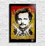 Pablo Escobar de la série télévisée Narcos - Illustration Originale Encadrée, Pop-Art Peinture, Presse Artistique, Poster, Toile Imprimée, Image sur Toile, Affiche d'Art, Affiche de Film