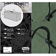 Ascot Covers–Cojín de poliéster 7años de garantía, verde