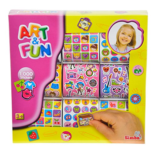 Preisvergleich Produktbild Simba 106301447 - Art & Fun 1.000 Girls Sticker, 2-sort.