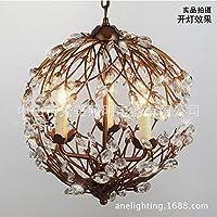 ZQ@QXDesign moderno elegante cucina soggiorno lampadario pranzo Lampadario in ferro cristallo ramo , imitation patina